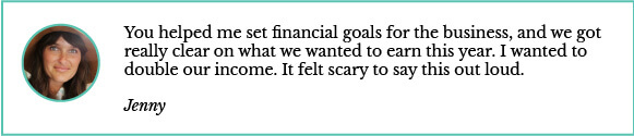 Jenny on setting financial goals