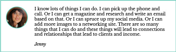 connections and relationships lead to clients and income